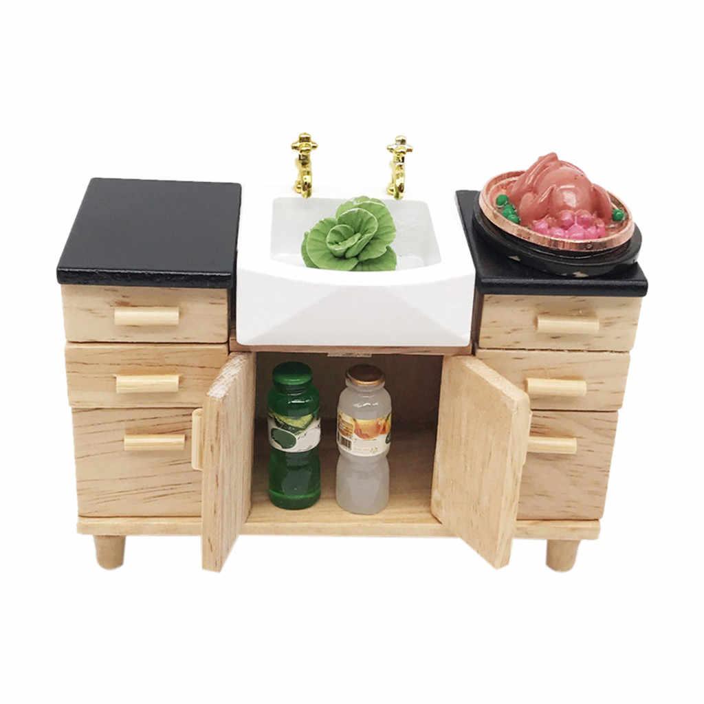 1:12 Кукольный домик, имитация миниатюрная мебель деревянный кухонный шкаф ролевые игры DIY Украшение для кукольного домика детские игрушки T9 #