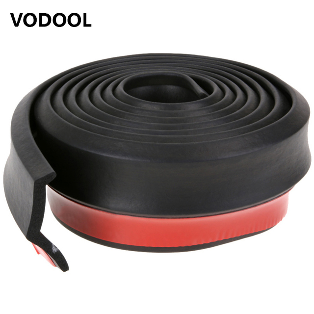VODOOL 2.5m/8.2ft 65mm Width Car Styling Car Moulding Strip Rubber Bumper Strip Exterior Front Bumper Lip Car Sticker Protector