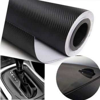 DIY 10×127 3D Carbon Fiber Decal Vinyl Film Wrap Roll Adhesive Car Sticker Sheet