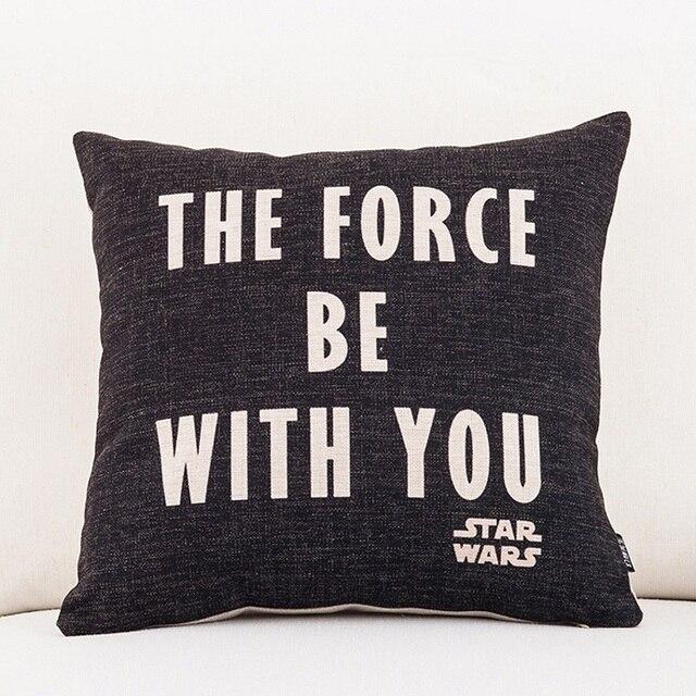 eb2426000 Star Wars Yoda Darth Vader Almofada Cobre A Força Esteja com Você Império  Fronha Decorativo Sofá