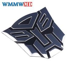 3d adesivos de carro legal autobots logotipo estilo do carro metal transformadores emblema da cauda decalque da motocicleta acessórios do carro automóvel