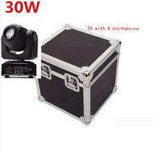 2 unids 30 W + flightcase LED Spot luz principal móvil / ee.uu. Luminums 30 W LED DJ luz