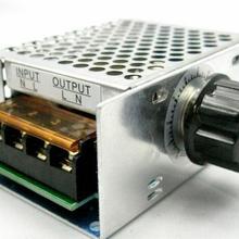 4000 Вт 220 В Регулируемый регулятор напряжения SCR регулятор скорости двигателя диммер