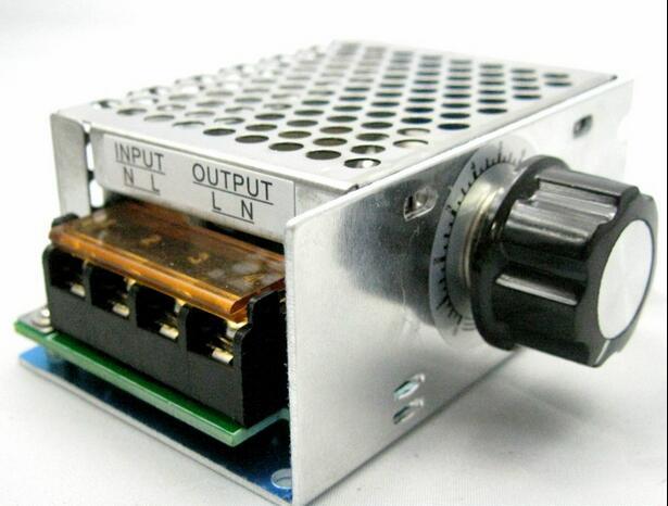 4000 w 220 v ajustável scr regulador de tensão controle de velocidade do motor dimmer termostato