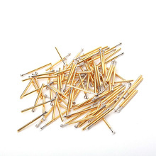 100pcs Electronic Household Spring Probe Nickel Test P75-LM  Diameter 1.3mm Brass Pogo Gold T