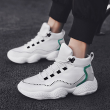 Men's Winter Shoes Trainers Sneakers Dad Shoes PU leather Shoes Men Winter Black Chunky Sneaker Platform Sneakers High Top Brand