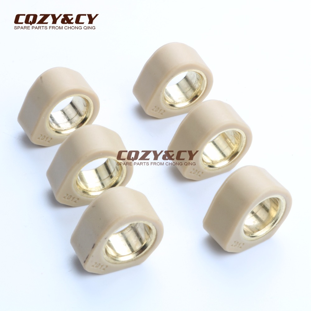 6PC Racing Quality Roller Weights 20x12mm 11g For YAMAHA 125 Cygnus R Hw Xenter Majesty Teo'S X-City X-Max Yw Bws Majesty 150