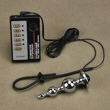 Секс Инструменты для Лидер продаж распродажа 2 предмета/партия Анальный бисера электрошок Анальная затычка Кук набор колец секс для взрослых игры секс-игрушки для обувь для мужчин и женщин.