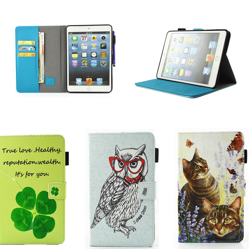 Cute Cartoon Case For Funda iPad Air 2 Case PU Leather Shockproof Case with Soft TPU Back Cover for iPad Air 1 Tablet Cases tpu tablet back cover case for ipad air 2