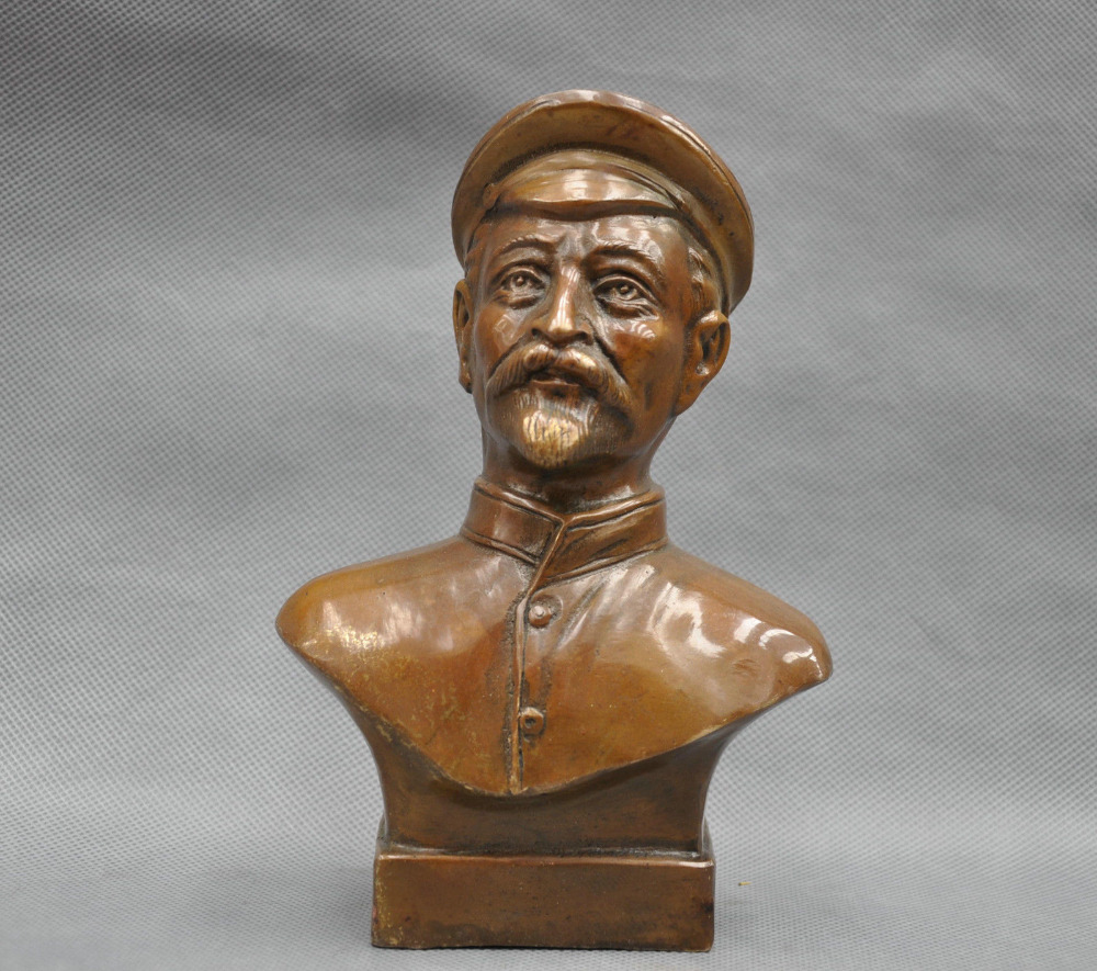 Details about  7 China Pure Bronze Former Soviet Captain Man Bust Bronze Statue  Details about  7 China Pure Bronze Former Soviet Captain Man Bust Bronze Statue