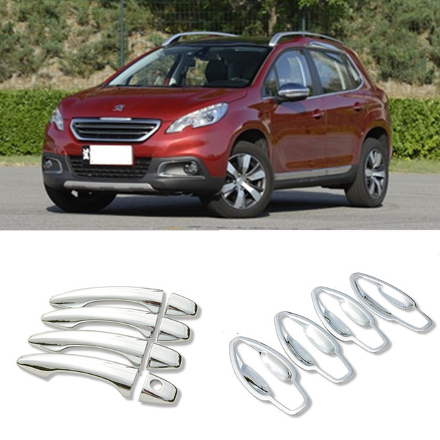 For Peugeot 2008 Chrome Handle Covers Trim Set of 4PCS 2013 2017 ...