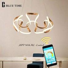 מודרני Led נברשת תליית מנורת זהב קפה כרום מתכת תקרת נברשת תאורה עבור סלון חדר אוכל מטבח