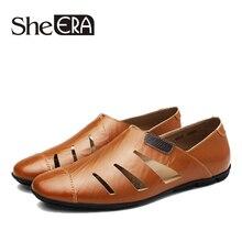 c26356db Ella ERA de marca de verano sandalias de cuero genuino sandalias de los hombres  zapatos casuales
