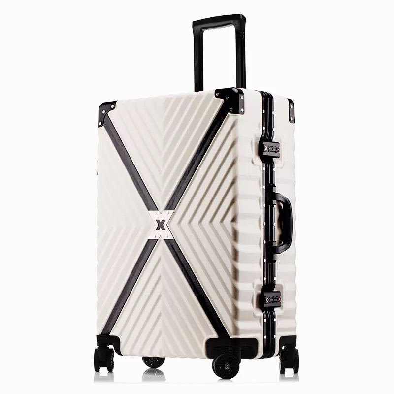 Popular fashion rolling luggage brand carry on box men travel suitcase women fashion trolley luggage aluminum