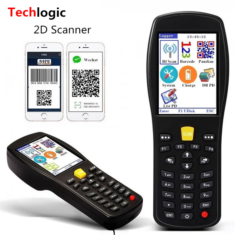 Techlogic X9 2D QR PDF417 Datametrix 2D Wireless Barcode Scanner Handhold Terminal PDA QR Code Reader Inventory Barcode Scanner blueskysea yk wm3l 960x640 cmos 433mhz wireless bar code scaner 1d 2d qr code pdf417 scanner barcode wireless qr reader