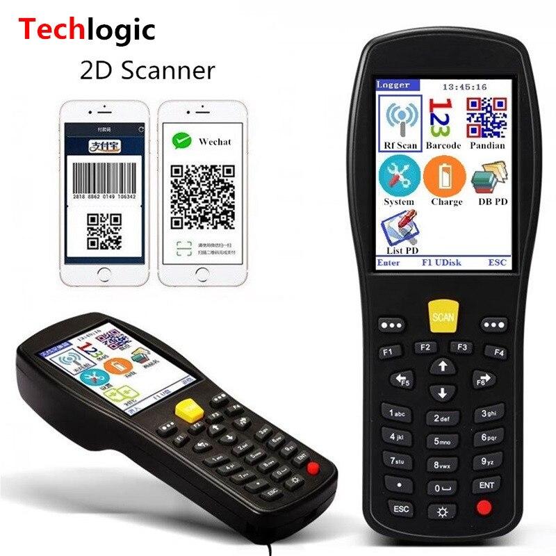 Techlogic X9 2D QR PDF417 Datametrix 2D Scanner de codes à barres sans fil