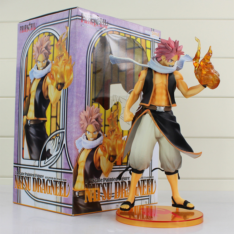 Retail 1 Piece 10'' 25cm Fairy Tail Natsu Dragneel PVC Action Figure Toy Collective Doll With Box Free Shipping