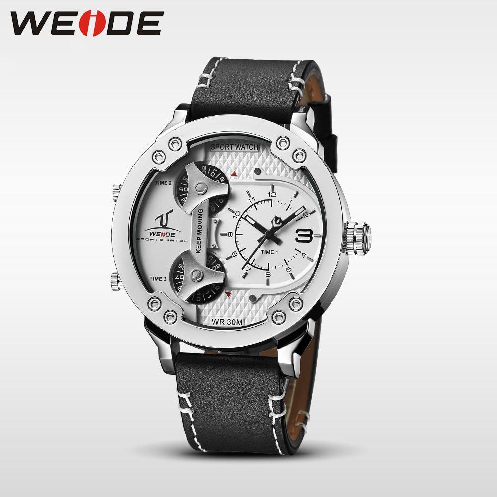 Weide klok luxe quartz horloges Mannen wit sport elektronisch horloge - Herenhorloges - Foto 2