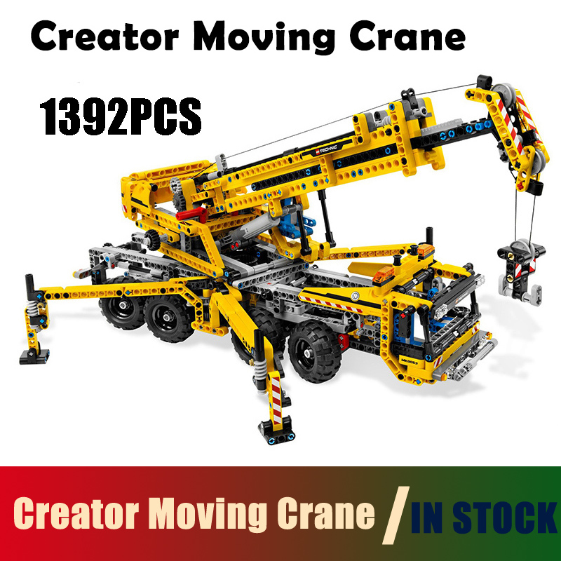 Creator Moving Crane Set building blocks Figure Bricks toys for children Compatible with Lego Technic 8053 20040 1392pcs compatible with lego ninjagoes 70596 06039 blocks ninjago figure samurai x cave chaos toys for children building blocks