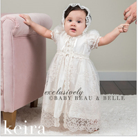 Baby Girl White Dress 2018 Infant Dress Baby Items Baptism Christening Gown Newborn Girl Clothes Lace Design Birthday Outfit 2Y