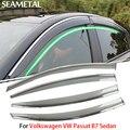 4 unids/lotfor volkswagen vw passat b7 sedan 2012-2015 ventana parasol cubre protección contra la lluvia del coche decoración exterior accesorios de automóviles
