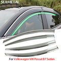 4pcs/lotFor Volkswagen VW Passat B7 Sedan 2012-2015 Car Window Visor Sun Rain Shield Covers Exterior Decoration Auto Accessories