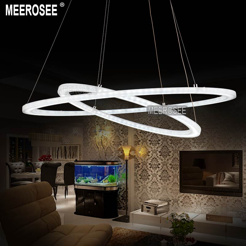 Modern led chandelier light fixture led ring acrylic hanging lamp modern led chandelier light fixture led ring acrylic hanging lamp for dining room lustres white led circle lighting in chandeliers from lights lighting on mozeypictures Image collections