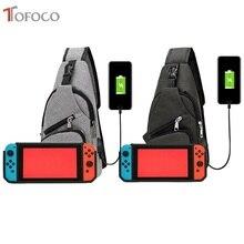 Tofoco saco de armazenamento portátil capa para nintend switch ns console saco de transporte