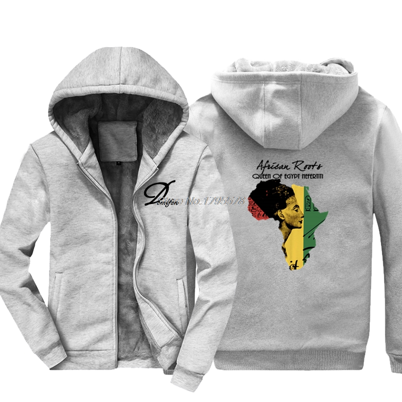 Fashion Casual Men Hoodie Africa African Map, Black History, Rastafari, Reggae Thicken Sweatshirt Hip Hop Jacket Tops Harajuku