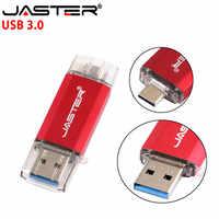 JASTER USB 3.0 OTG clés USB & type-c & Micro USB 128GB 64GB 32GB 16GB 8GB 4GB Pendrives double stylo lecteur livraison gratuite