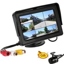 4.3 Дюймов Цветной TFT LCD 480×272 Вид Сзади Автомобиля монитор Автомобиля Авто Заднего Вида Обратный Монитор Помощи При Парковке для Камеры