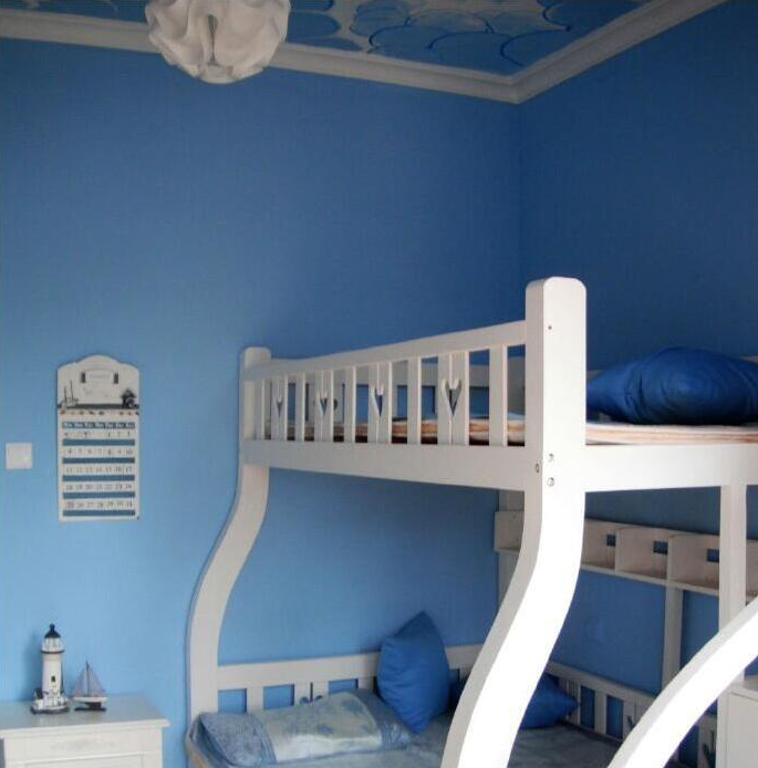Купить с кэшбэком Mediterranean Style Sky Blue Wallpaper Modern Pure Color Wall Paper Roll For Bed Room Livingroom