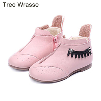 Tree Wrasse Winter Girls Snow Boots Kids Shoes New Baby Plus Cashmere Flat Warm Cotton Shoes