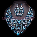 Fashion Jewellery Dubai Crystal Necklace Earrings Bridal Jewelry Sets For Brides Party Wedding Accessories Decoration LC00768