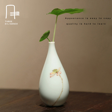Jingdezhen China Ceramic Flower Vases Hand-painted Household Asted Kung Fu tea Furnishing Articles Home Tabletop Decoration