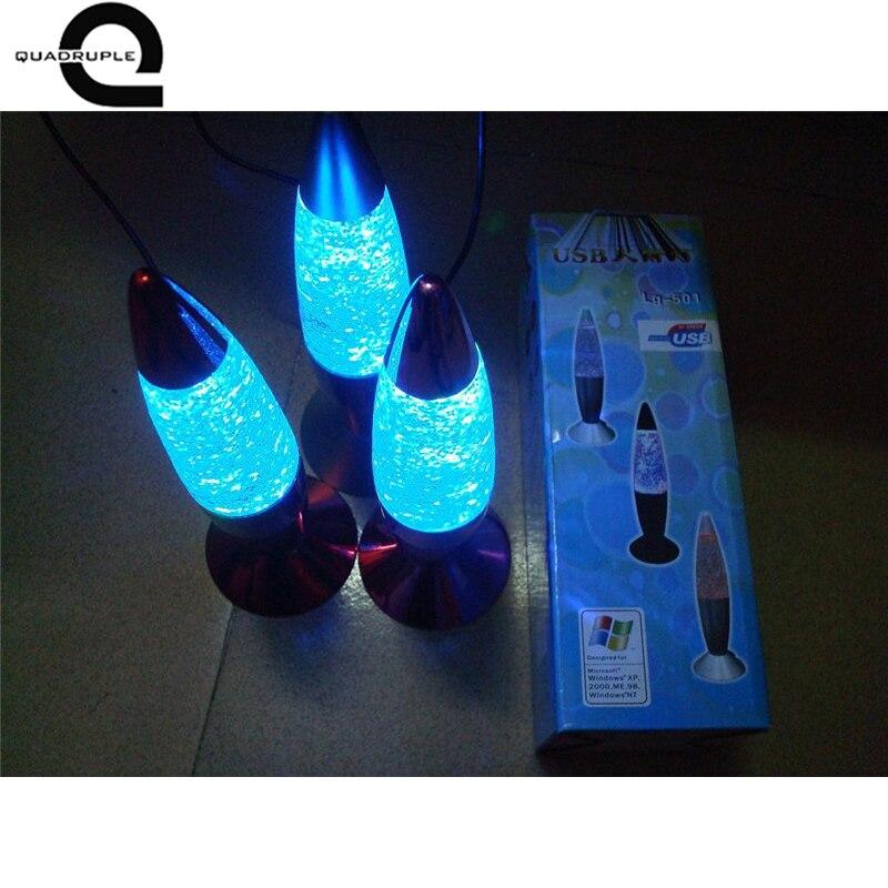 все цены на Quadruple 3D Rocket Multi Color Changing Lava Lamp RGB LED Glitter Party Mood Night Light Christmas Gift Bedside Night lamp онлайн