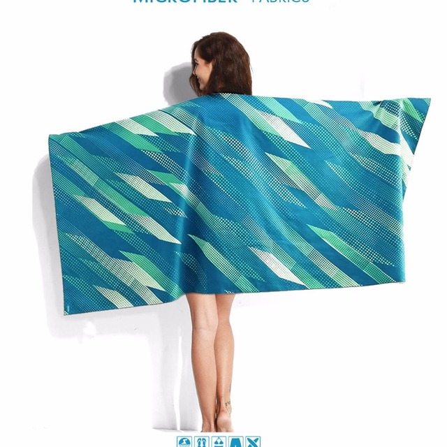 cool beach towels. Microfiber Compact Travel Towel Swimming Sports Camouflage Bath Holiday Quick Drying Summer Cool Beach Towels
