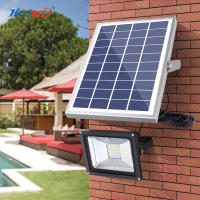 HOOREE 20 LED Solar Light Waterproof IP65 with Remote Control Solar Flood Light Aluminum Outdoor Garden Garage Led Solar Lamp