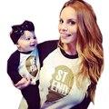 Весна Осень Семьи Сопоставления Одежда Лучший Друг Мамы и Меня футболка семьи Сопоставления Одежда Соответствия Мать Дочь Одежда