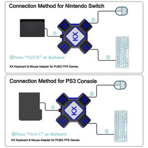 Image 5 - EastVita KX USB משחק בקרי מתאם ממיר וידאו משחק מקלדת עכבר מתאם עבור מתג/Xbox/PS4/PS3
