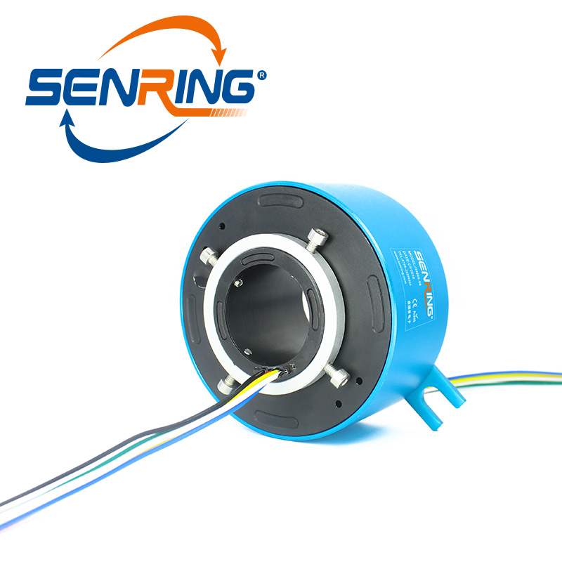 Conductive Through bore slip ring diameter 60mm OD 130mm current 10A for 6 wires 12 wires