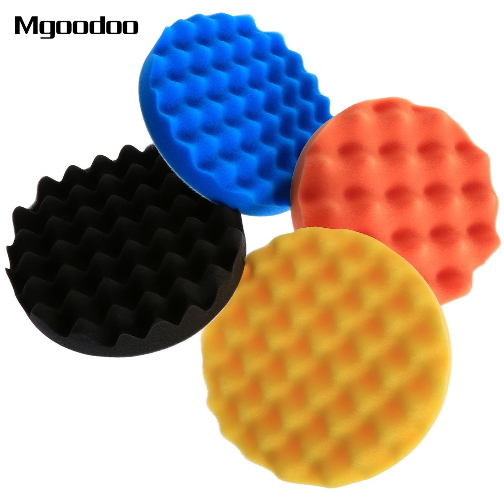 4Pcs 7inch(180mm) Buffing Polishing Sponge Pads Kit For