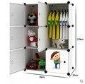 Simples de los niños bebé armario armarios armario armarios de almacenaje del cajón de plástico de acabado del gabinete de ropa de bebé niños