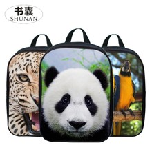 2017 New Style Polyester 12 Inches Printing Animal Panda Kids Baby School Bags Small Boys Mini Backpacks for Children Schoolbag(China)