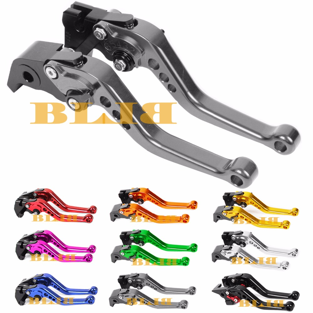 10 Colors For Suzuki GSXR 600 750 1000 GSR 600ABS 750ABS TL1000S CNC Long & Short Brake Clutch Levers Motorcycle Shortly Lever for suzuki gsr 750 600 400 motorcycle accessories cnc billet aluminum short brake clutch levers