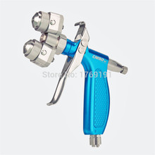 Blue Color Manual Two Nozzles Spray Gun with Stainless Steel for Nano Plating Silvering Chrome(H-S2-C2) sprey gun