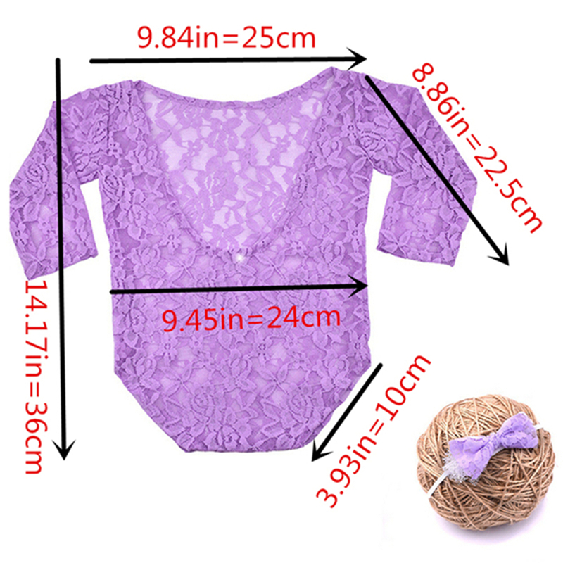 Baby Photography Props Lace Newborn Photography Wraps Handmade Lace Baby Photo Props Accessories Romper Jumpsuit  Girl Costumes