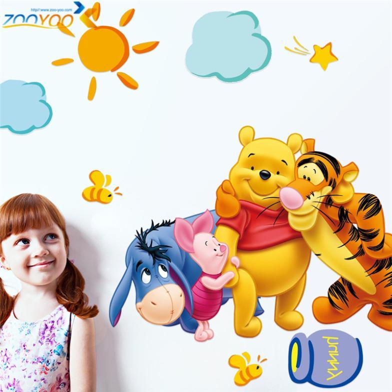 winnie the pooh φίλους τοίχο decals για παιδιά - Διακόσμηση σπιτιού - Φωτογραφία 2