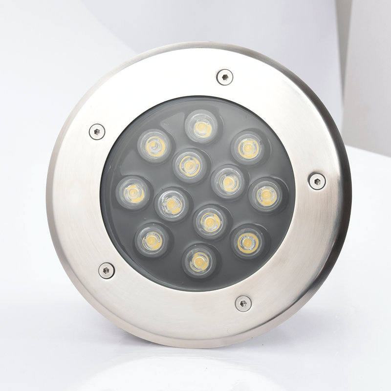 Free shipping 9W 12W Warm White/Cool White LED underground light IP67 Buried recessed floor outdoor lamp AC85V-265V or 12V