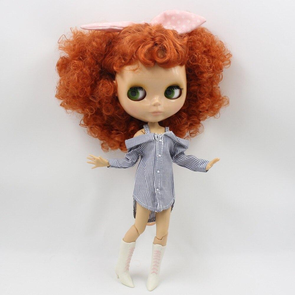 Neo Blythe Doll Striped Bare Shoulder Shirt 2